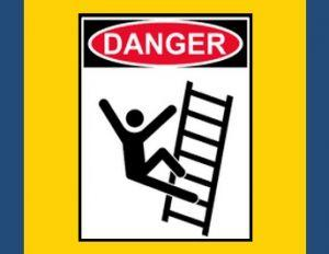 illustration of person falling off ladder